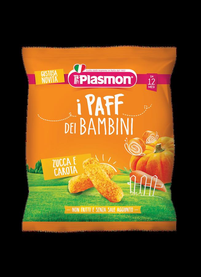 Image of I Paff Dei Bambini Gusto Zucca E Carota Plasmon 15g