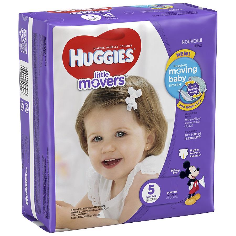 Image of Little Movers Diaper Pants Huggies® Pannolini 14 Pannolini Taglia 5