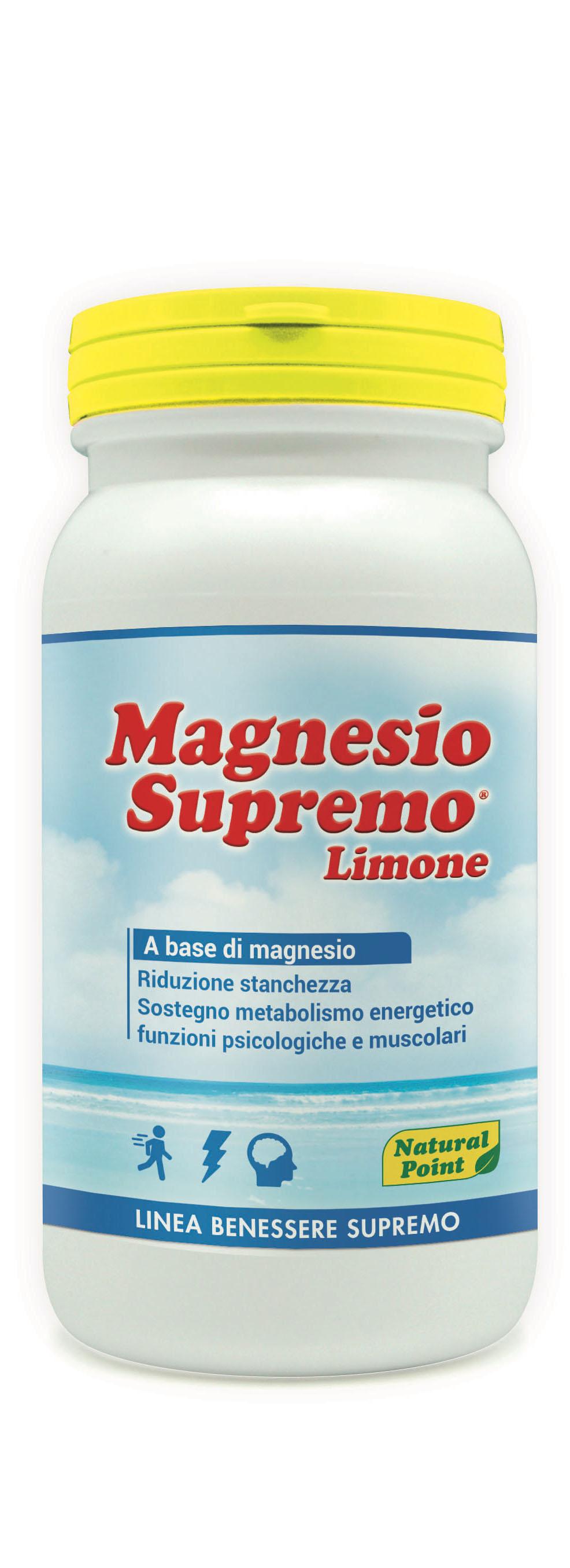 Magnesio Supremo Limone Linea Benessere Supremo Natural Point 150g