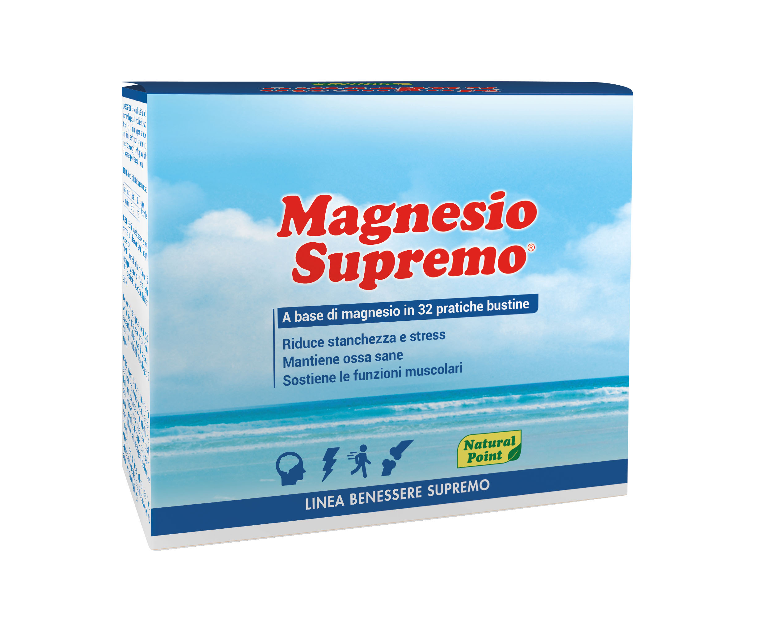 Magnesio Supremo Linea Benessere Supremo Natural Point 32 Bustine