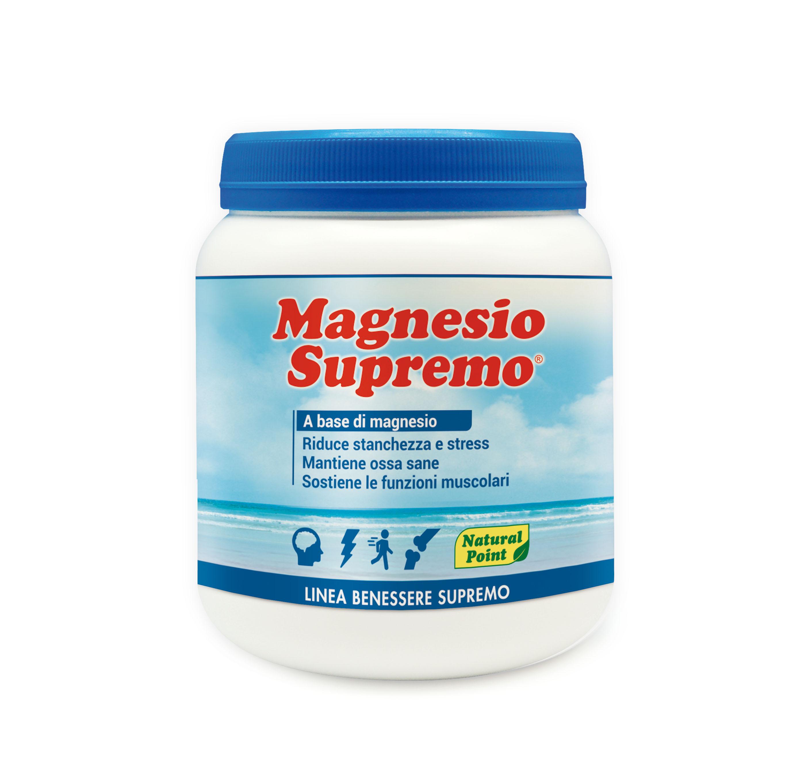 Magnesio Supremo Linea Benessere Supremo Natural Point 300g