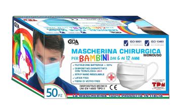 Image of Mascherina Chirurgica Pediatrica GDA 100 Mascherine