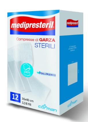 Medipresteril Compresse Corman 12 Pezzi