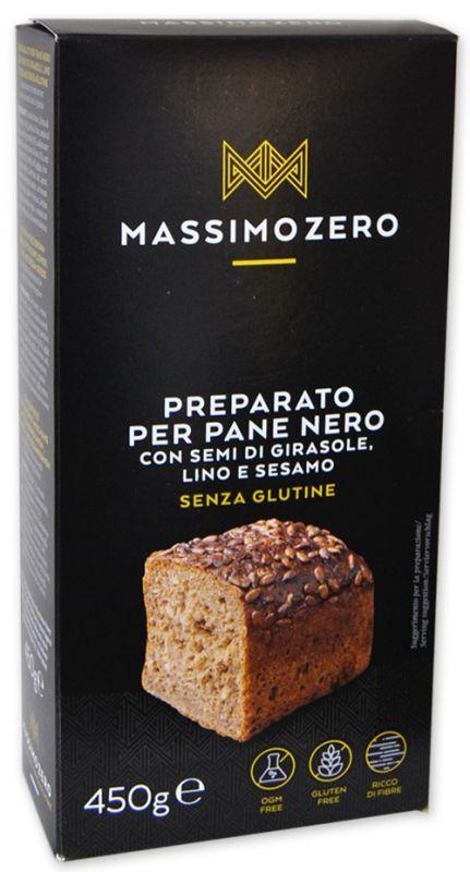 Preparato Per Pane Nero Con Semi Di Girasole Lino E Sesamo Massimo Zero 450g