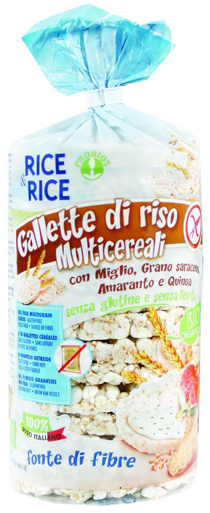Rice&Rice Gallette Di Riso Multicereali Biologico Senza Glutine 100g