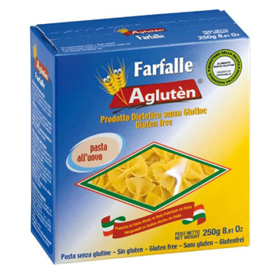 Image of Agluten Farfalle All'Uovo Pasta Senza Glutine 250g 904381985