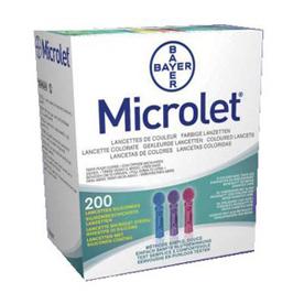 Image of Bayer Microlet Lancets 200 Lancette 935779936