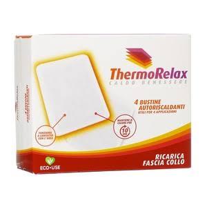 Image of Thermo Relax Bustine Autoriscaldanti Per Fascia Collo Caldo Benessere 4 Ricambi 926445065